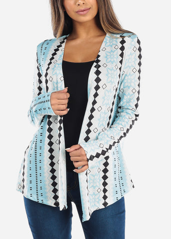 Blue Diamond Floral Cardigan