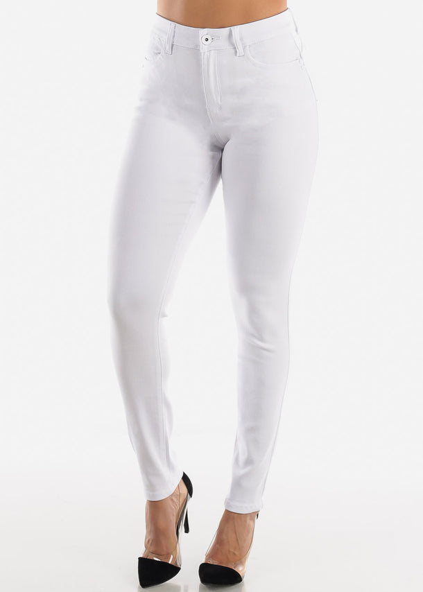 Levanta Cola High Rise White Skinny Jeans