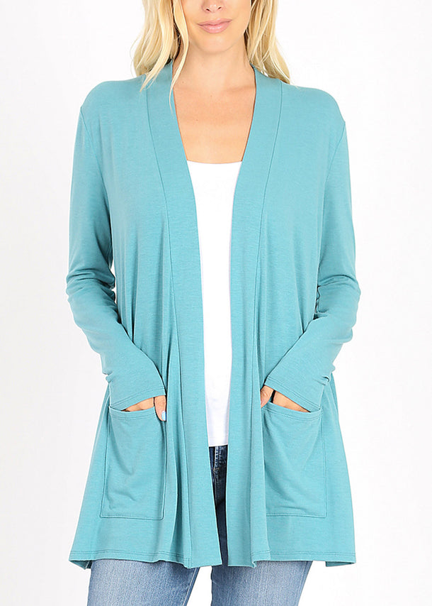 Slouchy Pockets Dusty Cardigan