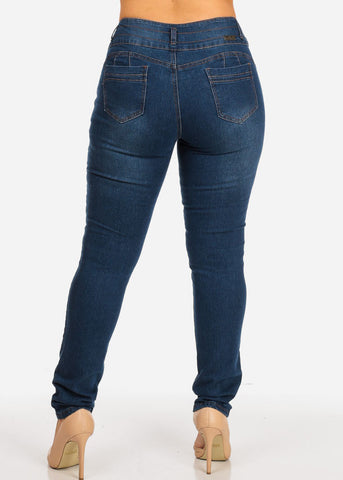 Dark Wash Butt Lifting Jeans