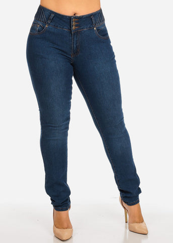 Image of Dark Wash Butt Lifting Jeans