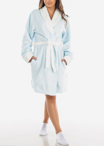 Image of Sky Blue Fleece Robe
