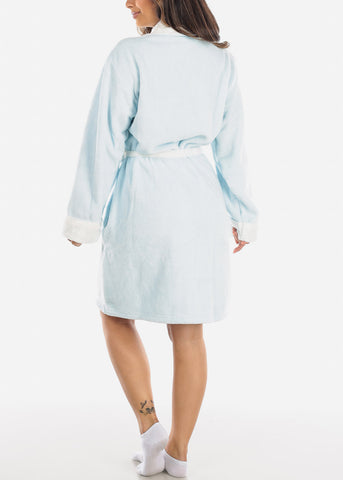 Sky Blue Fleece Robe