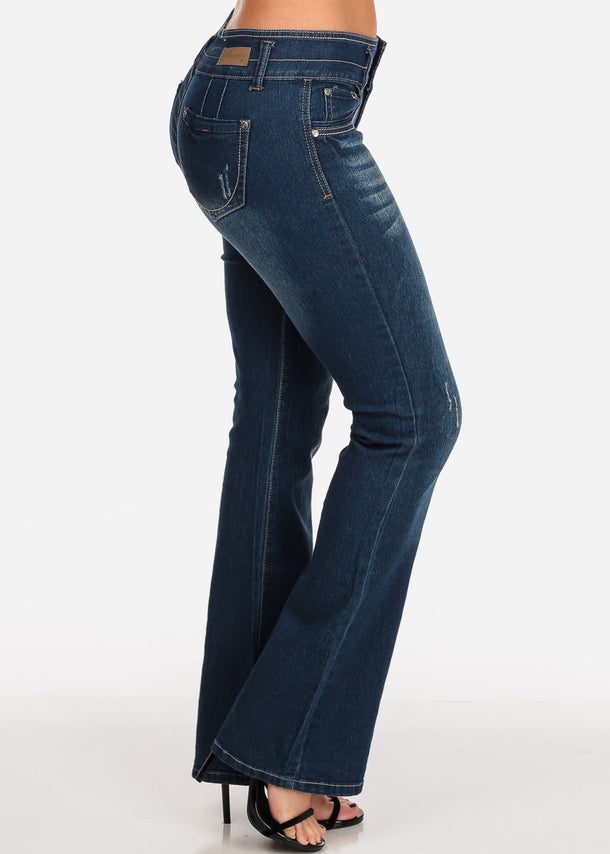 Butt Lifting Dark Wash Flare Jeans