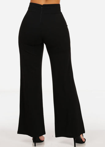 Elegant High Waisted Wide Pants