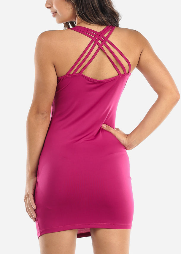 Purple Criss Cross Back Dress
