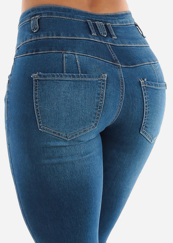 Blue Denim Butt Lifting Jeans