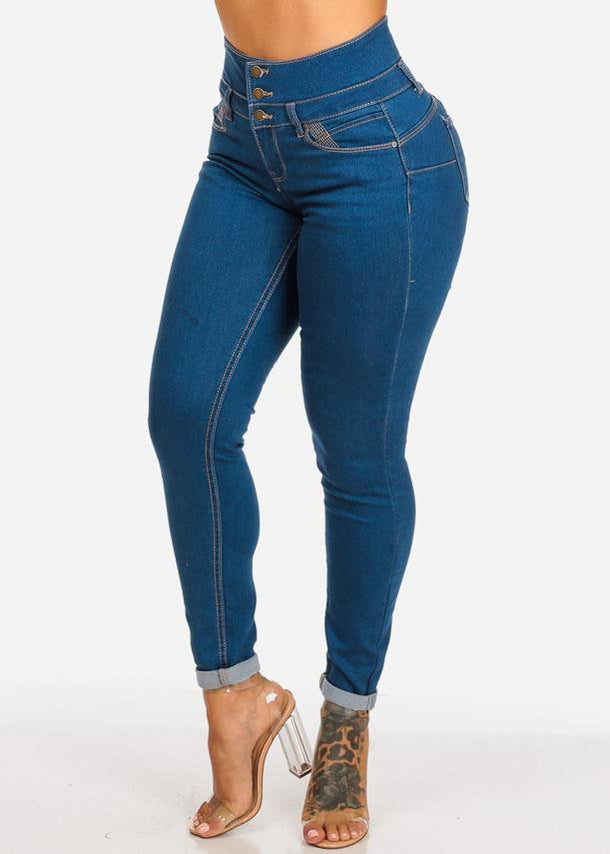 High Waisted Levanta Cola Skinny Jeans