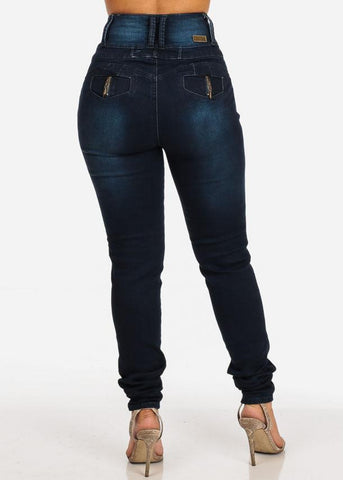 High Rise Butt Lifting Skinny Jeans