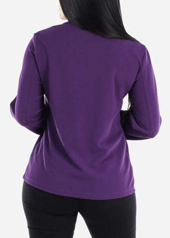 Image of Purple Open Front Blazer