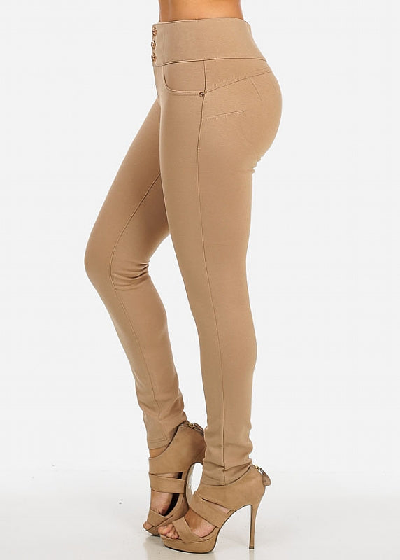 Butt Lift Skinny Pants (Khaki)