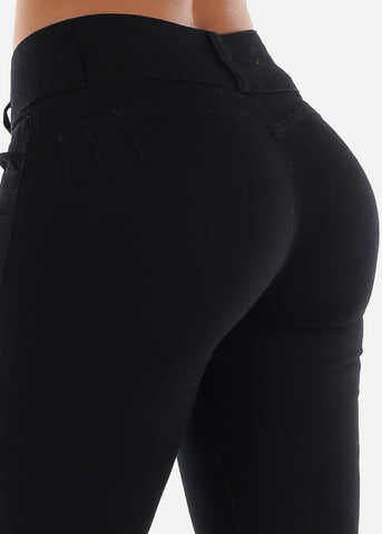 Image of Butt Lifting Black Skinny Jeans