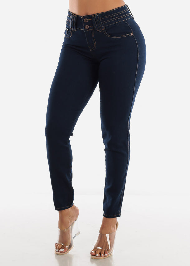 Dark Wash Butt Lifting Skinny Jeans