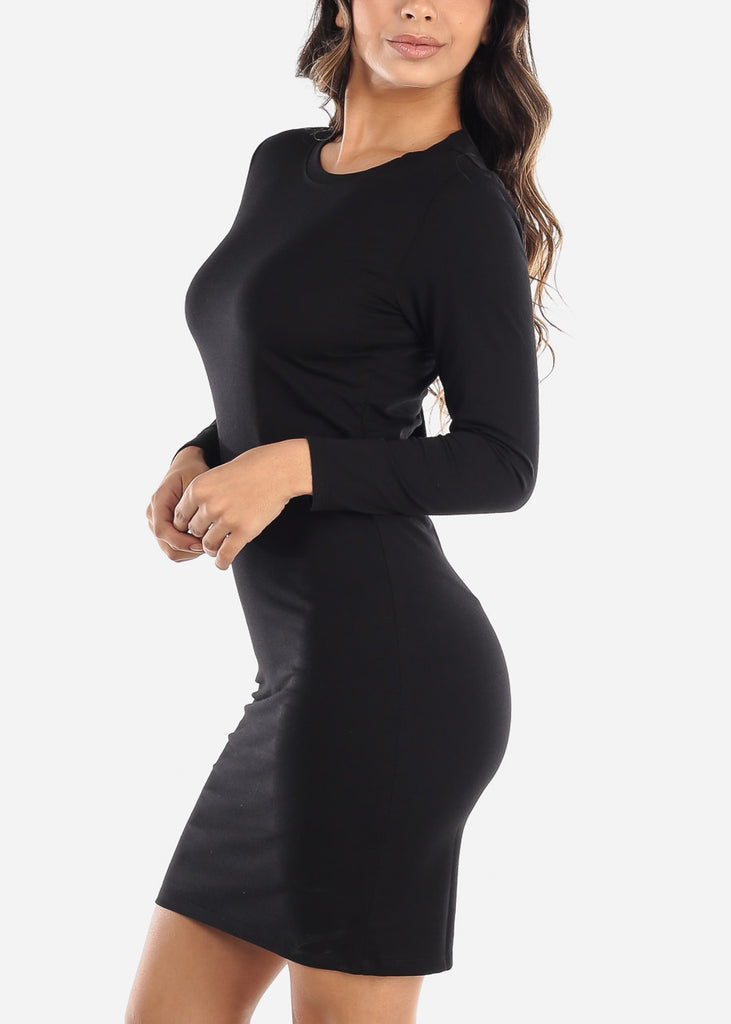 Basic Black T-Shirt Dress
