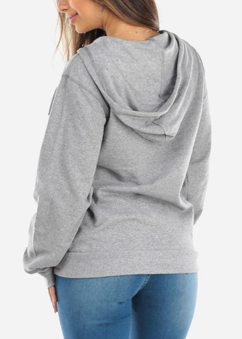Image of Zip Up Grey Sweater
