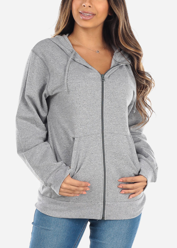 Zip Up Grey Sweater