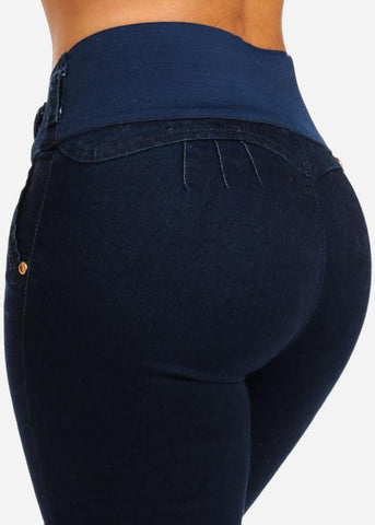 Low Rise Butt Lifting Skinny Jeans