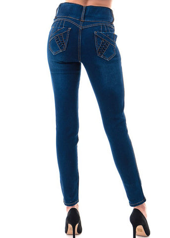 Image of High Waist Dark Wash Skinny Jeans
