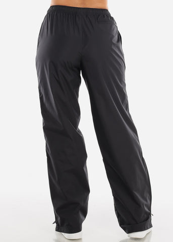 Image of Black Drawstring Waist Athletic Pants LPO010BLK