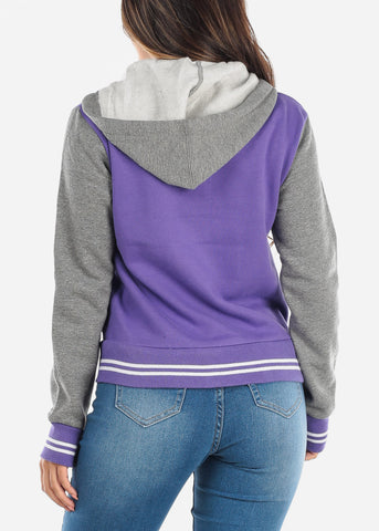 Purple Baseball Sweater