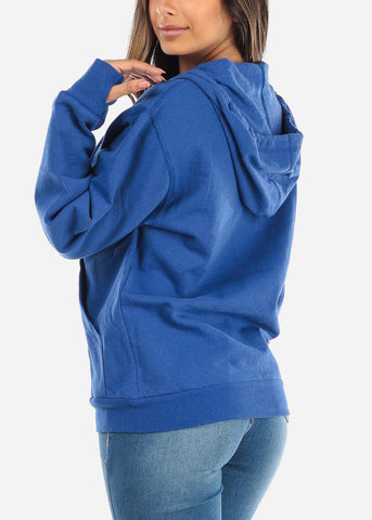 Zip Up Royal Blue Sweater