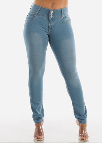 Image of Light Wash Levanta Cola Skinny Jeans