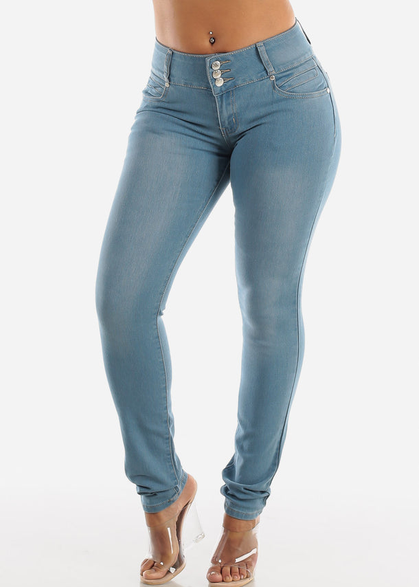 Light Wash Levanta Cola Skinny Jeans