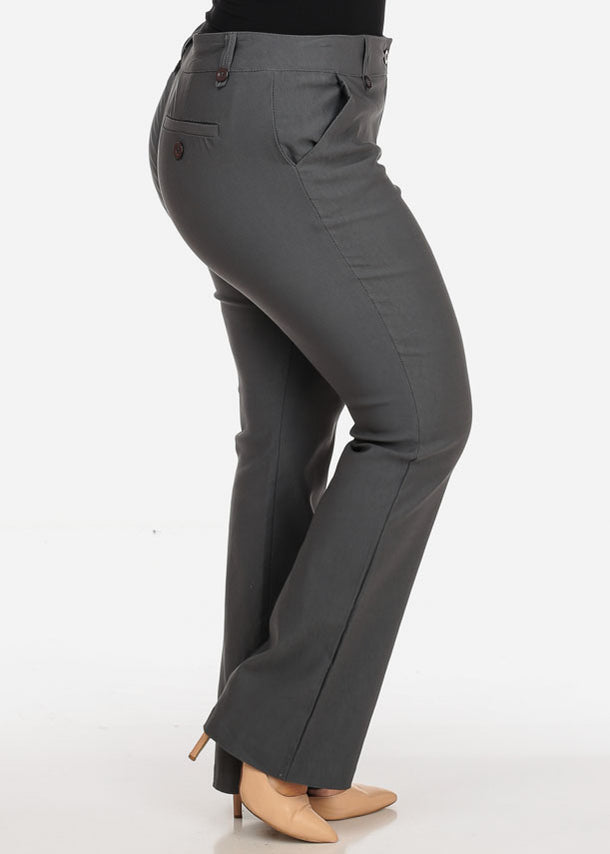 Plus Size Grey Dress Pants