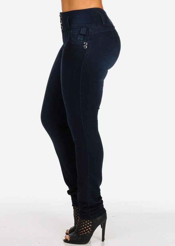 Mid Rise Butt Lifting Stretchy Skinny Jeans