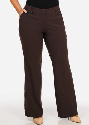 Plus Size Brown Dress Pants