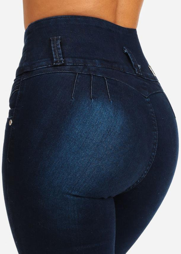 High Waisted Butt Lifting Skinny Jeans