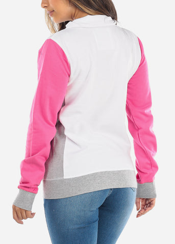 Image of Mock Neck Colorblock Sweater