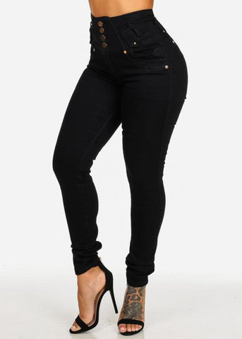 PLUS SIZE High Waist Levanta Cola Skinny Jeans