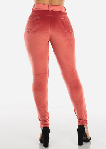 Image of Brick Suede Skinny Pants