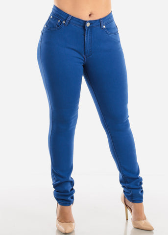 Plus Size Butt Lifting Blue Skinny Jeans