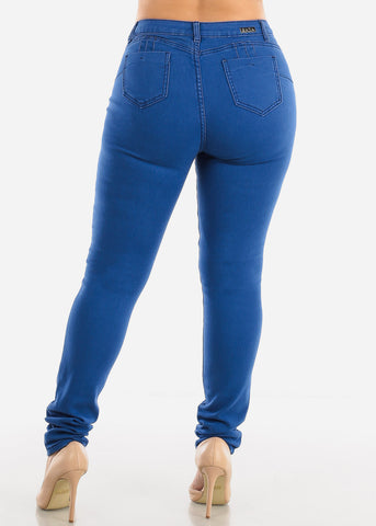 Image of SIZES 13-15-17 Butt Lifting Blue Skinny Jeans