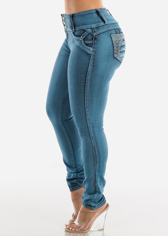 Image of Blue Levanta Cola Skinny Jeans