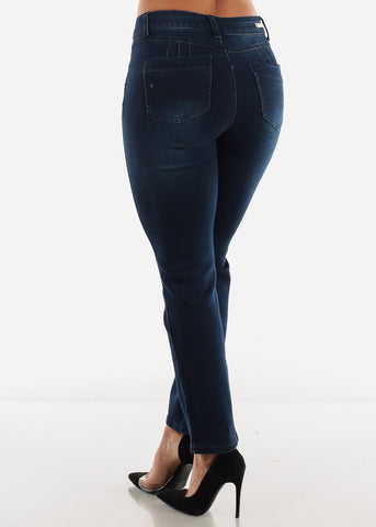 Image of Navy Butt Lifting Jeans