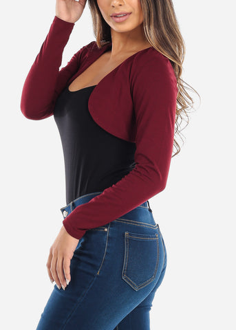 Burgundy Mini Cardigan
