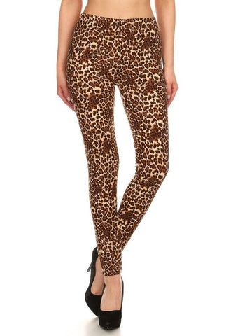 Soft Bodycon Printed Leggings (One Size)