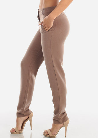 Image of Mocha Dress Pants