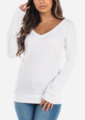 Image of White Pullover Sweatshirt