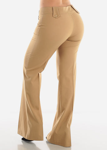 Image of Straight Leg Khaki Dress Pants