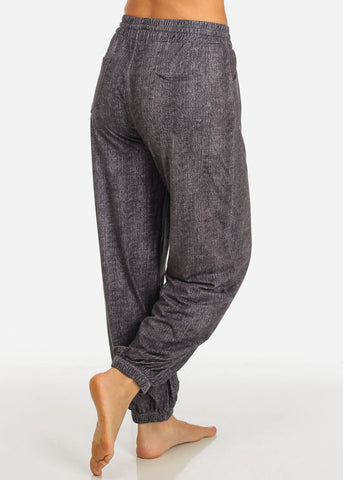 Grey Drawstring Stretchy Pants