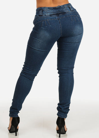 Image of Butt Lifting Ripped Skinny Jeans