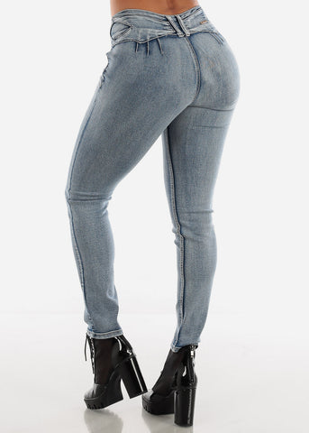 Image of Levanta Cola Faded Wash Skinny Jeans