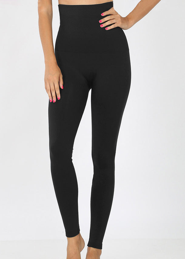 High Rise Tummy Control Black Leggings
