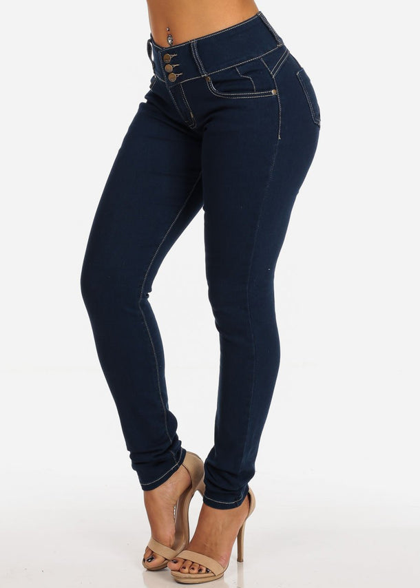 Bull Lifting Med Wash Skinny Jeans