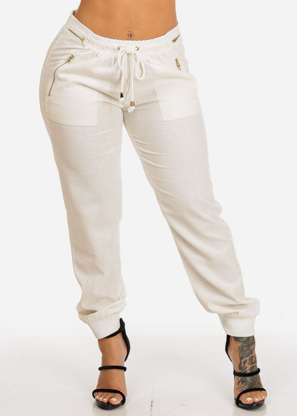 Cheap Ivory Accents Drawstring Pants
