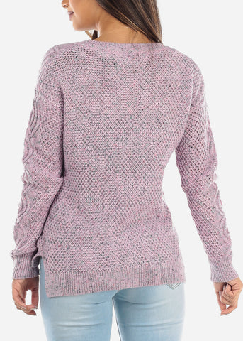 Pink Knit Sweater BFT10666PNK